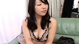 Perky breasted Japanese slut pleases hard dicks with her lo