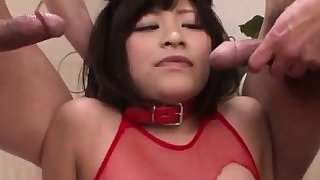Aika Hoshino red lingerie model fucked until exhaustion