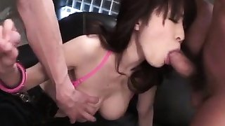Miina Kanno, busty lady, fucked and creamed on pussy