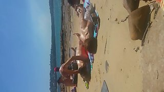 Korean girl in nude beach part 3