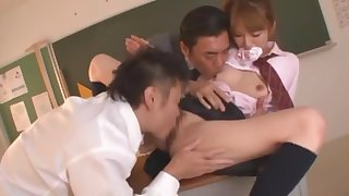 Hottest Japanese slut Miku Ohashi in Crazy Doggy Style, College JAV movie