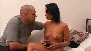 Easy Slut Fucked And Swallows Cum Load