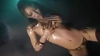Oiled sexy Asian woman