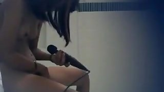 Asian college girl masturbation bathroom hidden cam