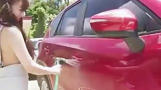 Japanese Model Carwashing