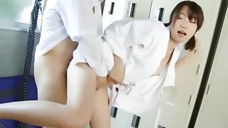 Horny Japanese chick Sena Ichika in Amazing Small Tits, College JAV scene