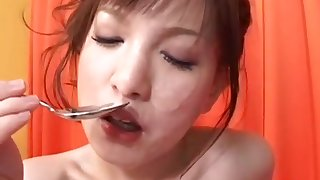 Japanese girl banged and drinks pee