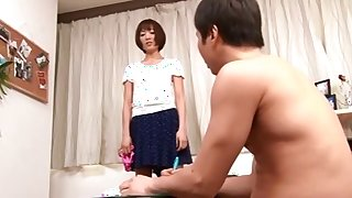 Japanese nylon panty hand job and teasing
