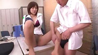 Crazy Japanese girl Nanako Mori in Horny Fetish, Secretary JAV movie