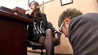 Fabulous Japanese chick Mei Miura in Exotic Stockings, Cunnilingus JAV video