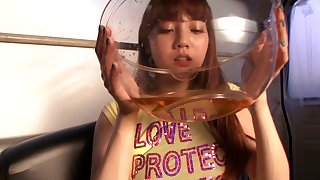 Kinky scene with a hot Japanese teen