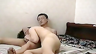 Mature asian couple homemade sextape from 1996