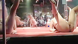 Pattaya streetsluts dancing naked in a bar
