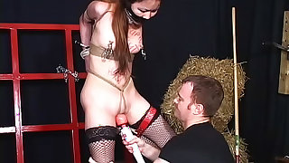 Petite Asian in BDSM abuse scene