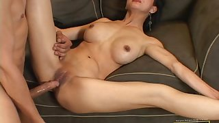 Big cock fucks flexible Asian girl