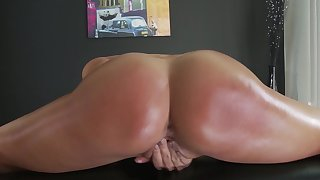 Big ass Asian angel pumped by horny masseur in hard modes