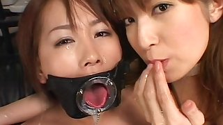 Horny japanese babes covered in jizz