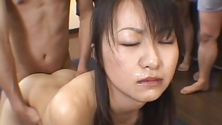 Japanese babe made to swallow