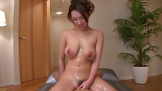Busty japanese likes to play dirty
