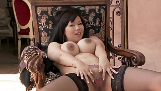 Tigerr Benson is a busty asian babe with amazing ass