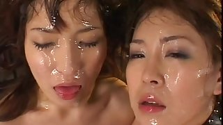 Asian ladies are swallowing tasty cum loads