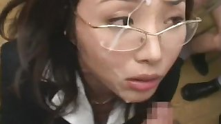 Hardcore Asian chick is sucking tasty Asian prick