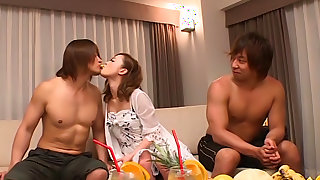 Naughty Japanese Milf, Rino Kirishima In Hot Group Action