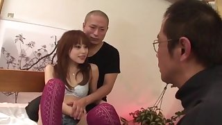 Slim Miina Yoshihara feels needy to fuck in threesome