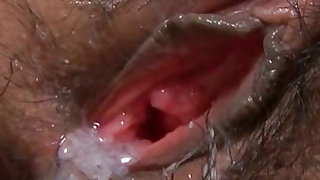 Hairy asian pussy jumps on cock Video 3