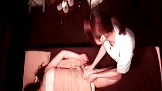 Kinky action featuring two lovely babes on hidden cam