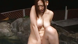 Shameless and nude asian  is masturbating her vagina