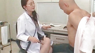 Straight and awesome japanese nurse is thinking about sex