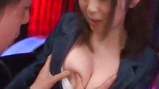 Glorious and cute japanese  is sucking big erection