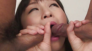 Winning and tempting cock sucker is sucking huge sticks