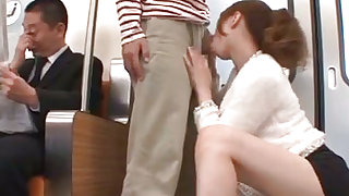 Busty chick enjoys cock riding in the train