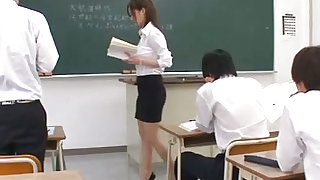 Gorgeous Japanese teacher is hungry for hardcore pleasuring