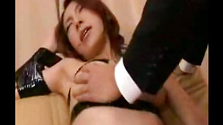 Gorgeous babe with big boobs is having bondage sex