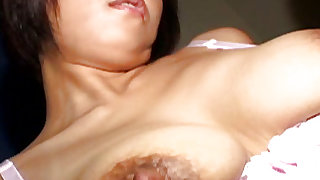 Tempting and nasty japanese doll is satisfying her bf