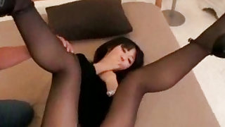 Adorable and nasty asian  wants her bf to sniff her ass