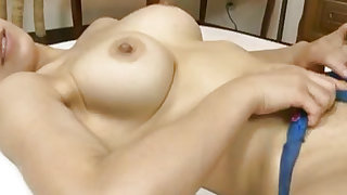 Busty and alluring  is sucking big penis indoors