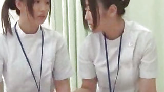 Sexy and young japanese nurse is having real gangbang