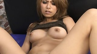 Oriental whore take two cocks and gets hirsute pussy creamed